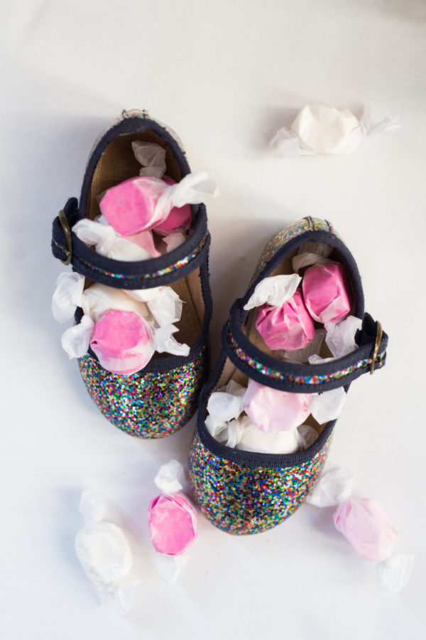 Saint Nicholas, St. Nick, December Holiday, December 6th, little shoes, fashion, shoes, Homemade Sprinkles, Sprinkles, homemade gifts, edible gifts,