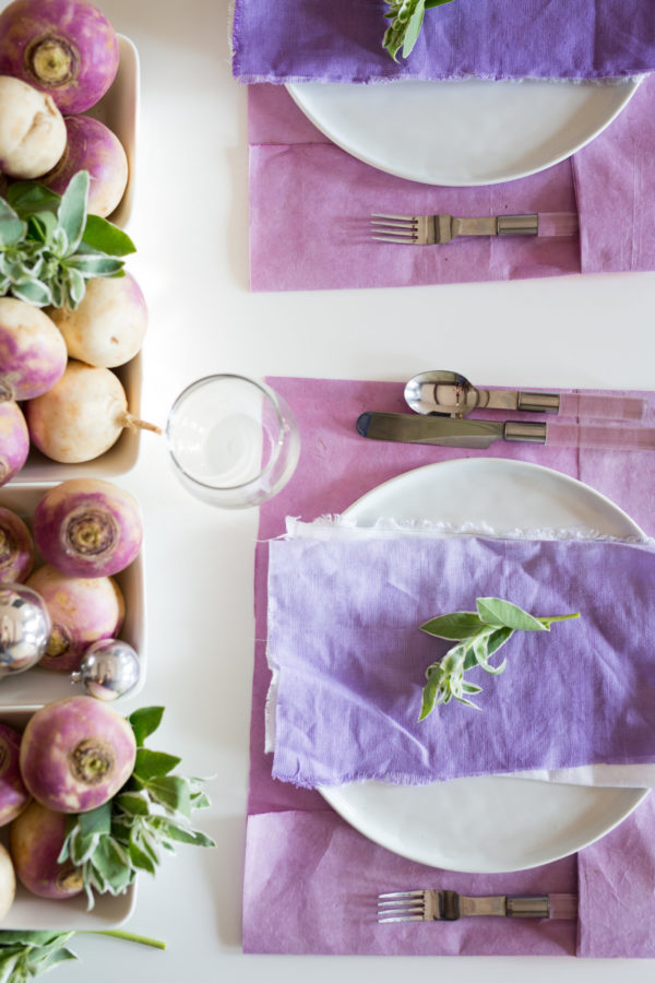 Libbie Summers, A Food-Inspired Life, Turnips, Place Setting, Tablescape, Dinner table,