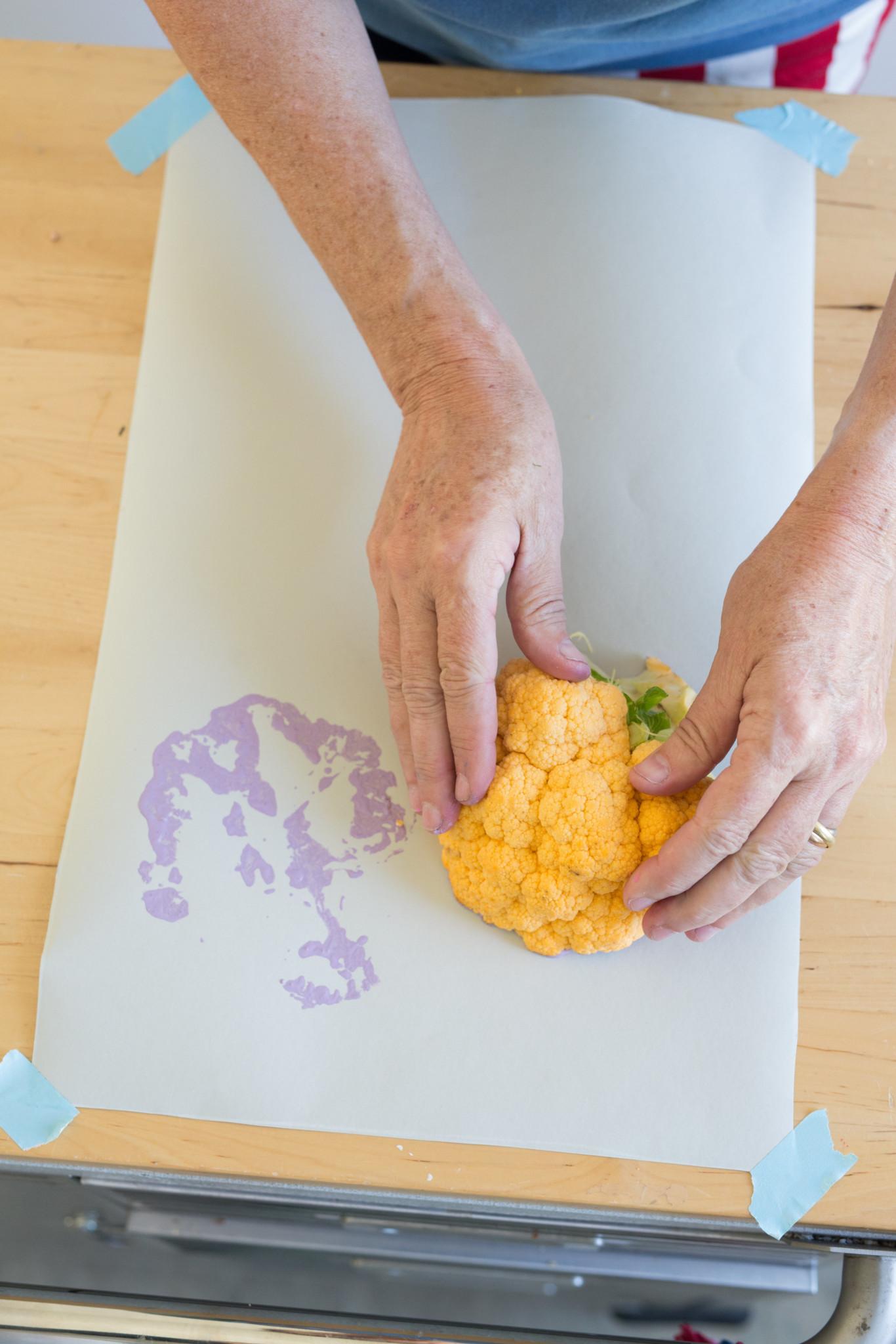 DIY Cauliflower Art from Libbie Summers (photo by teresa earnest)