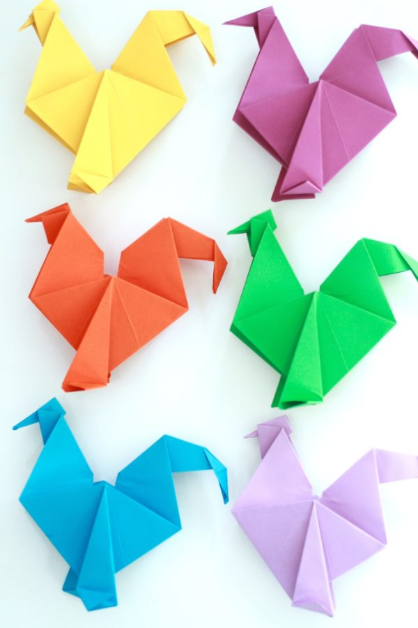 Roosters, Origami, Fun with Paper, Paper Crafts, Paper Decorations