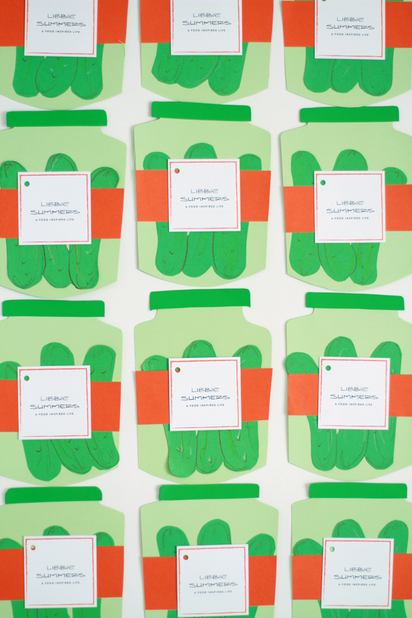 Libbie Summers, A Food-Inspired Life, DIY, Pickle, Party Invitations