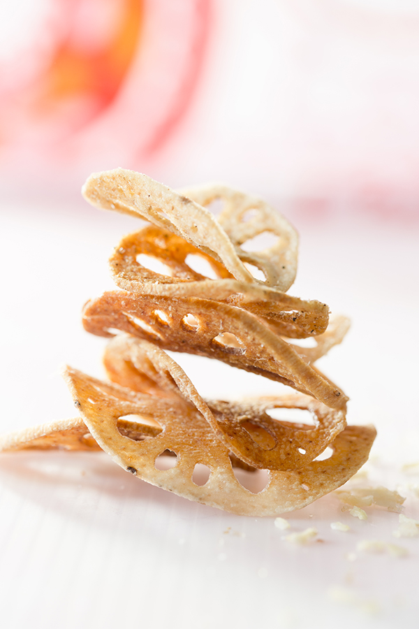 Fried Lotus Root, Lotus Root Snacks, Unusual Snacks, Libbie Summers, Chia Chong, food Styling, Food Photography