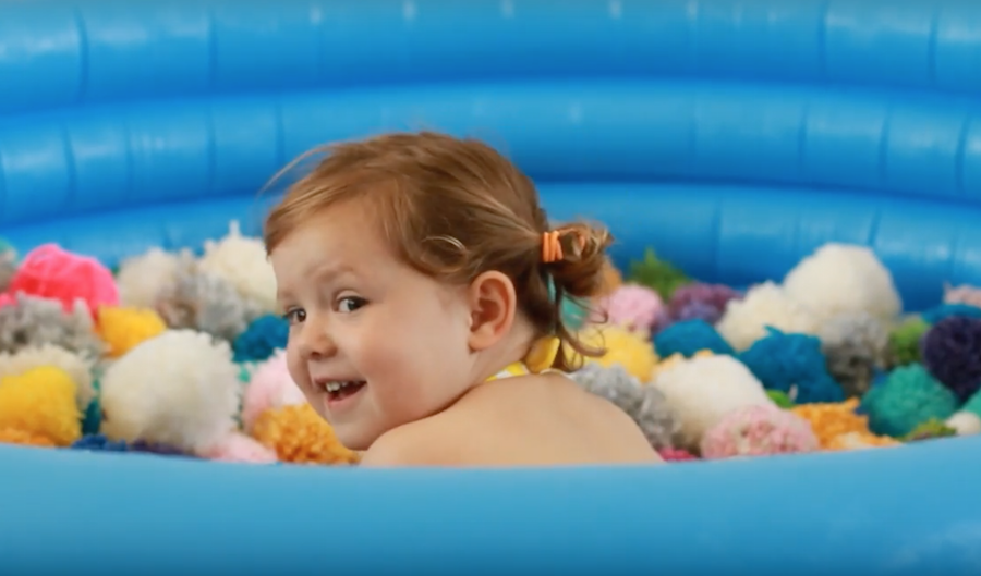 Party Ideas, Kid's Parties, Pool Parties, Pom Poms, Uses for Pom Poms, Rainy Day Fun, Libbie Summers, A food-inspired life