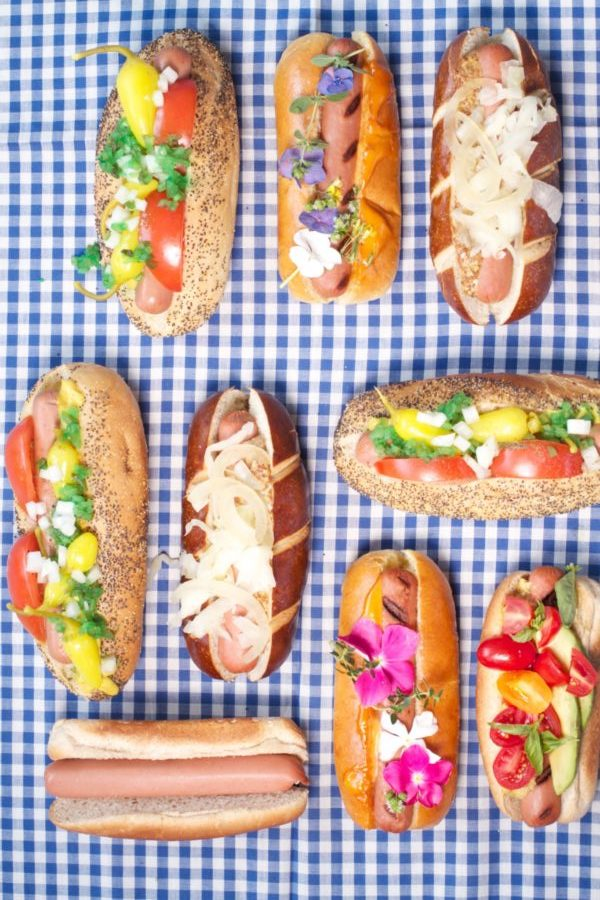 Libbie Summers, A Food-inspired LIfe, Hot Dogs, Fathers Day, Dad Dogs, Dad, Hot Dog Toppings, Toppings, Summer, July, Fourth of July, Backyard Cookout