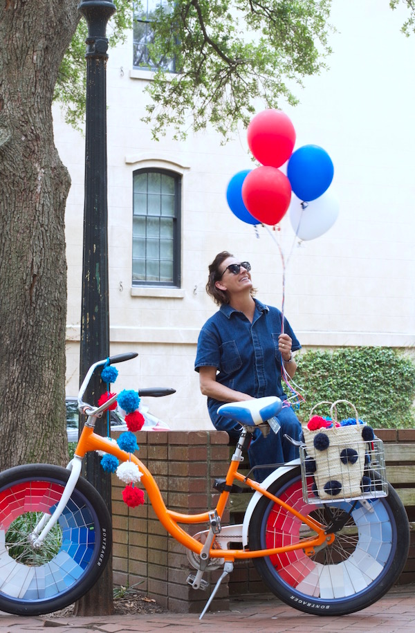 Parade, Bicycle Decorating, DIY, Paint Chips, Libbie Summers