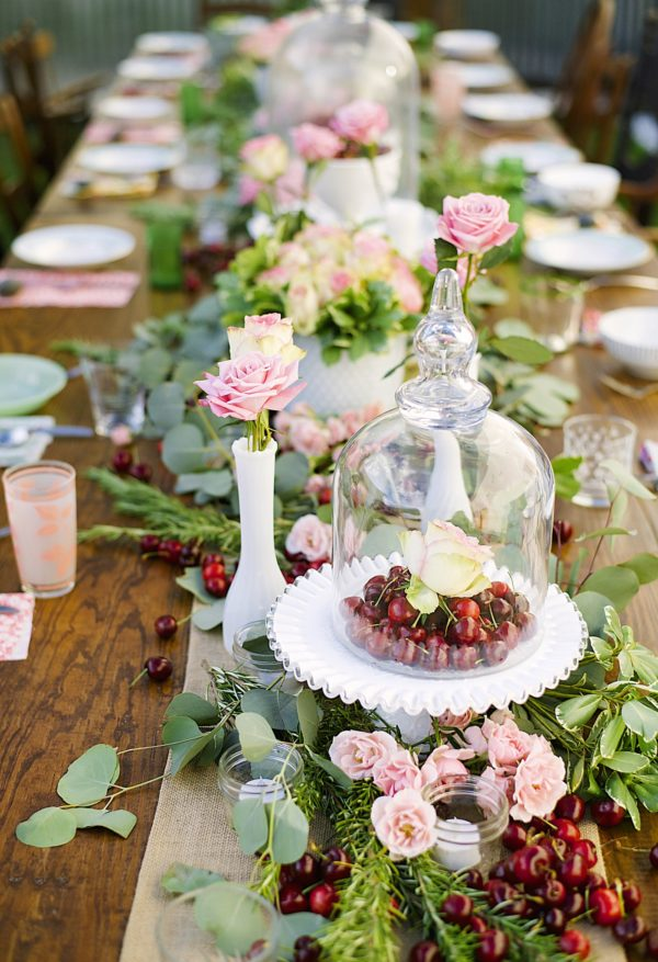 Cherries, Summer Parties, Tablescapes, Libbie Summers, A food-inspired life