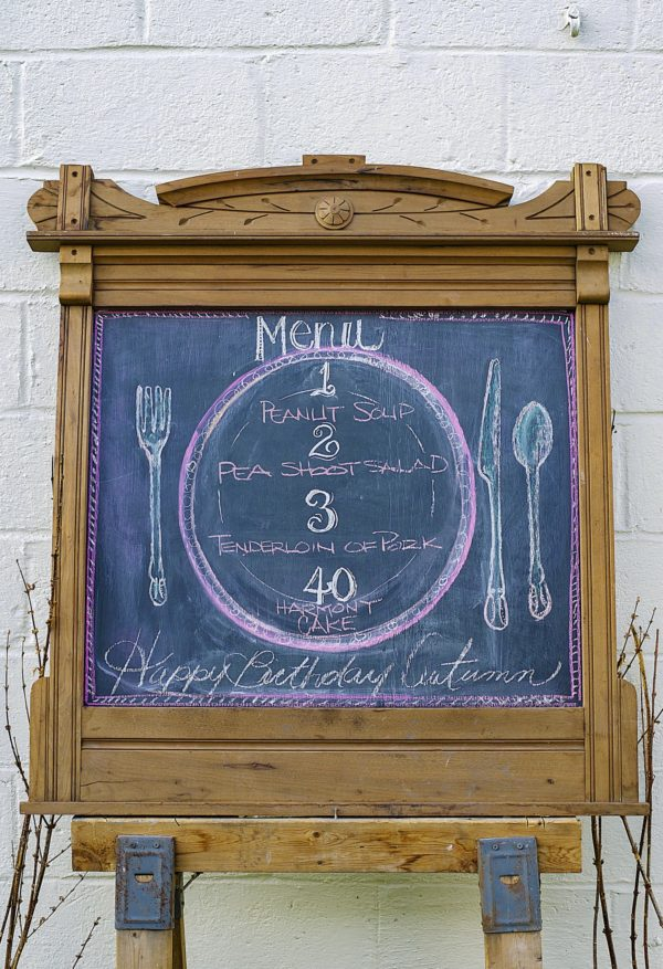 Chalk Board Art, Menu chalk Board, Libbie Summers, A food-inspired life, Party decor,