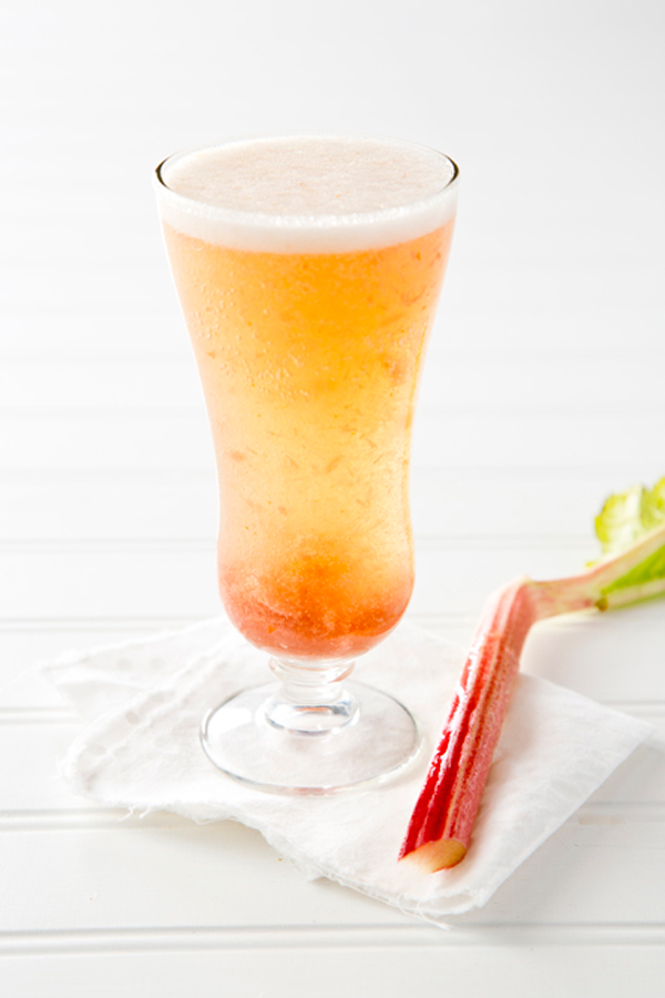 Libbie Summers, A Food-Inspired Life, Bellini, Cocktail recipe, Rhubarb