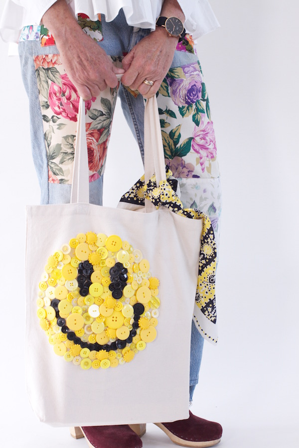 Book Bags, Custom Book Bags, Back to School, Libbie Summers, A food-inspired life, Smiley Face