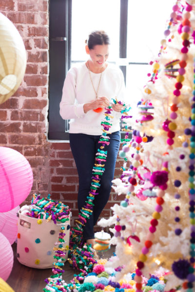 Garland, Candy Wrapper, Handmade Garland, Holiday Decorating, Libbie Summers, A food-inspired life