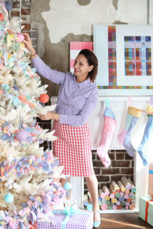 Gingham, Gingham Garland, Libbie Summers, A food-inspired life, Holiday Decorating