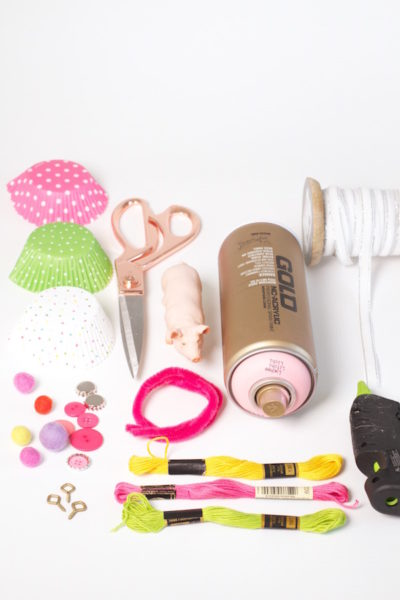 How To, DIY, Party Pig Ornaments, What you need, Supply List, Libbie Summers, A food-inspired life, Holiday Crafts