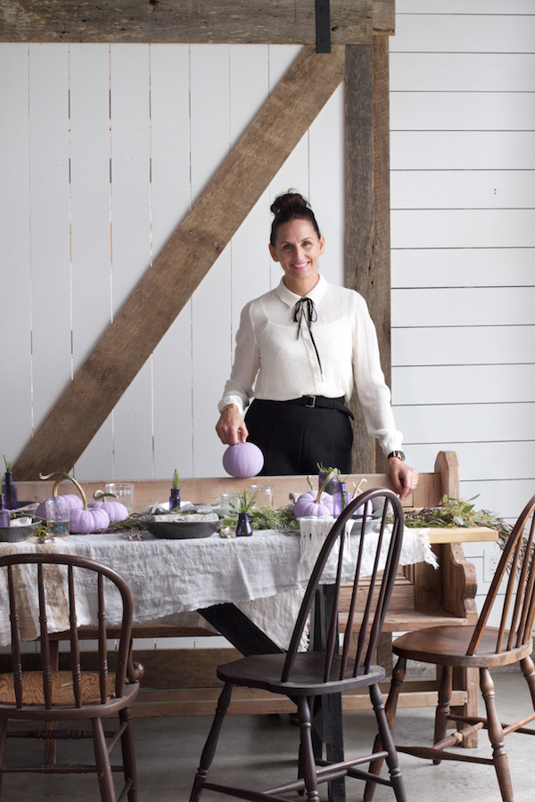 Holiday Table, Thanksgiving, Libbie Summers, Table Decor, Pumpkins, Decorating with Pumpkins, Purple Pumpkins