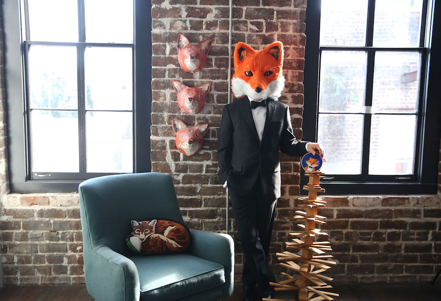 Fox Head, Fox Costume, Fox in a Tux, Libbie Summers, Happy New Year, Husband of the year