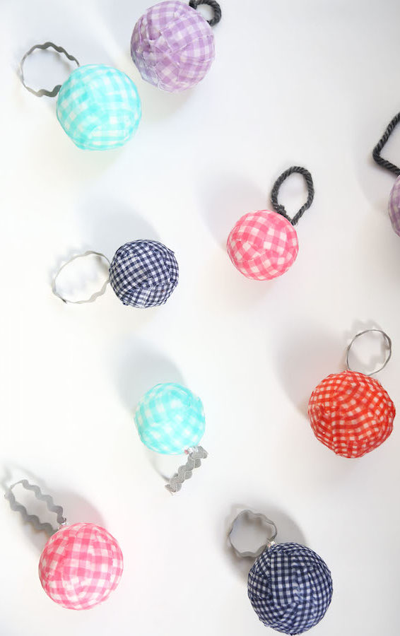 Holiday Decorating, Ornaments, Holiday Crafts, DIY, Gingham Ornaments, Libbie Summers, A food-inspired life