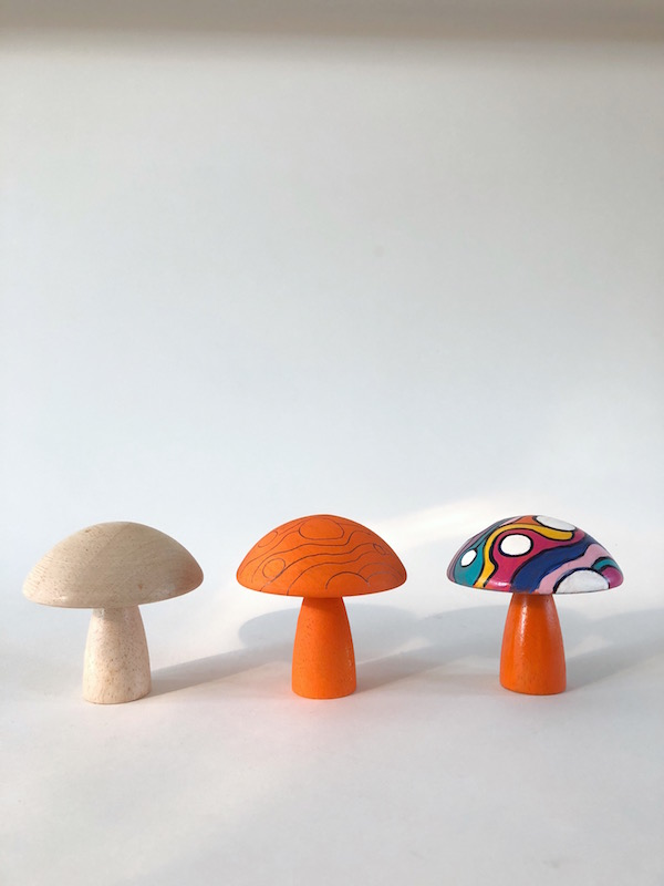 Mushroom Crafts, Painting Wood, Psychedelic Artwork, Libbie Summers, A food-inspired life