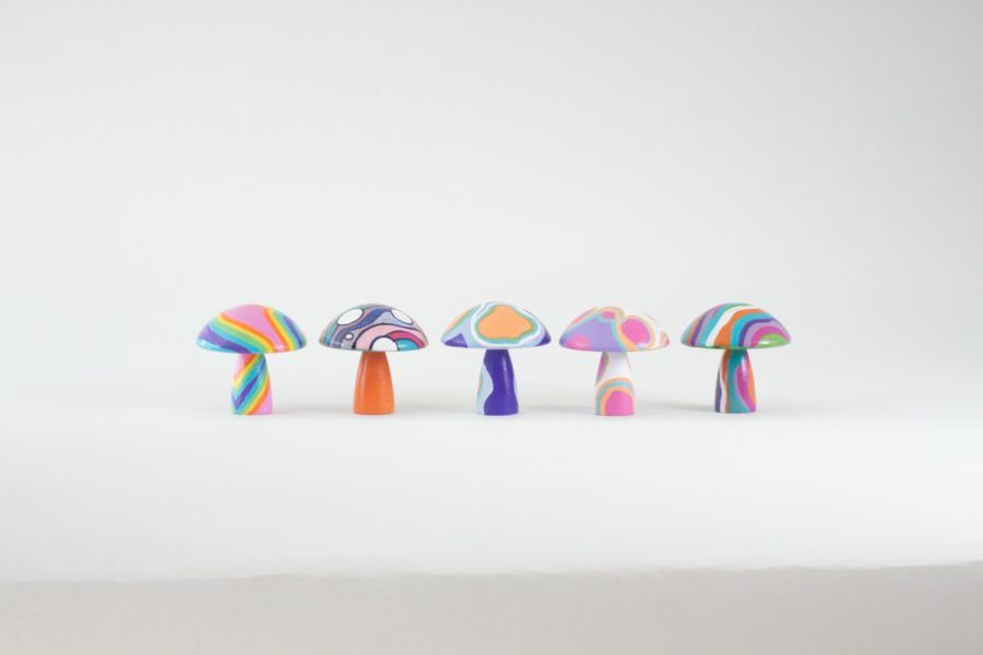 Painted Wood Crafts, Psychedelic Mushrooms, Mushrooms, Psychedelic Artwork