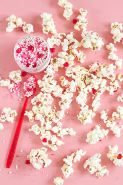 Popcorn Sprinkles, Sprinkle Popcorn, White Chocolate, Sweet Snacks, Libbie summers, A food-inspired life, #libbiesprinkles