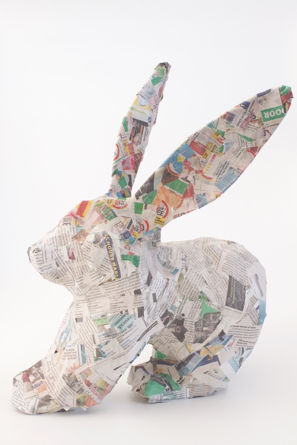 Paper Mache, Craft, Libbie Summers, DIY, Easter, Pastel Colors, Jelly Beans, Bunny, Rabbit, Easter Bunny,