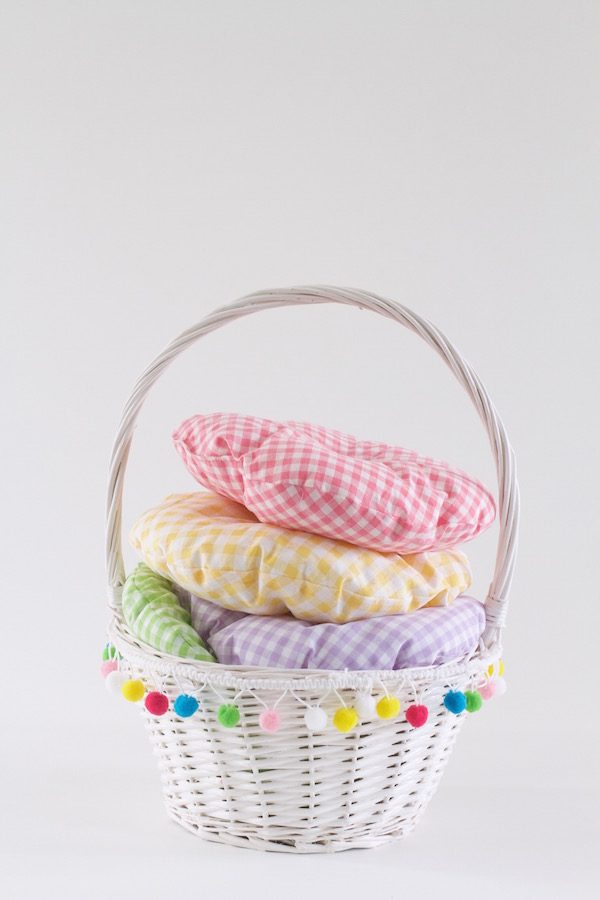 Chair cushions, Gingham, Hand sewing, Easy sewing, Pillows, A food-inspired life, Libbie Summers