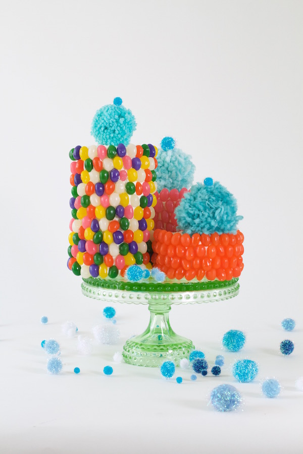 Jelly Beans, Fun Cakes, Kid's Cakes, Party Cakes, Pom Pom Cakes, Libbie Summers, A food-inspired life