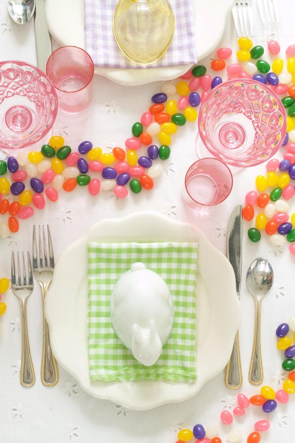 Place Settings, Easter Party, Libbie Summers, A food-inspired life, Happy Tables, Jelly Beans