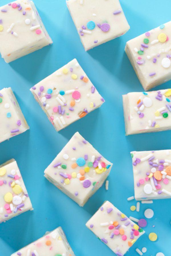Sprinkle Fudge, White Chocolate Fudge, Sprinkles, Libbiesprinkles, Libbie Summers Recipes, Happy, Yum Yum Smile Shop, Sprinkles, Easy Recipes, Fudge Recipes