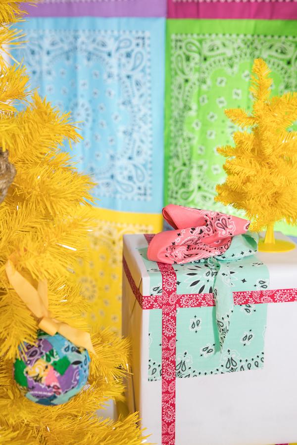 Bandana, Festive Gift Wrap, Unique Gift Wrap, Holiday Gift Wrap, Western Gift Wrap