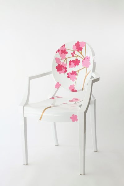 Vinyl Adhesive, Chair Decoration, Crafting with Vinyl, Libbie Summers, A food-inspired life, Cherry Blossoms