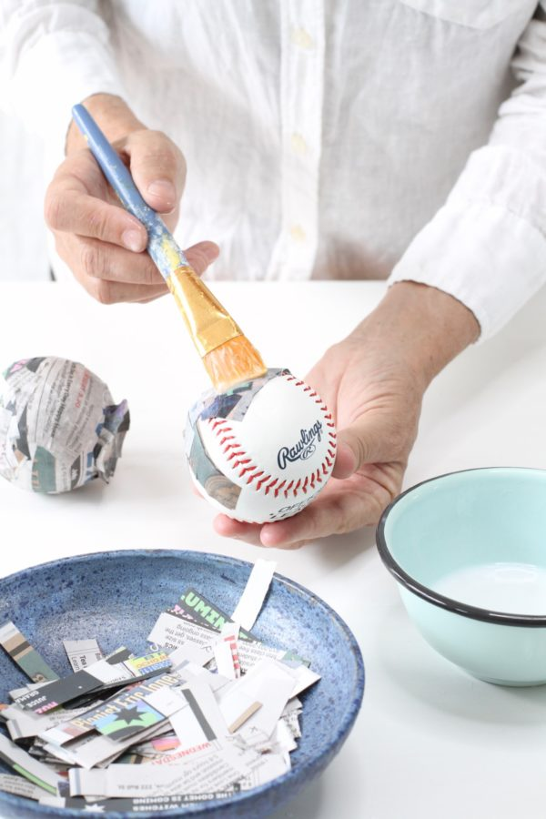 Libbie Summers, A Food-Inspired Life, Blueberries, Baseball, DIY, How to, Paper Mache, Blueberries, Dinner Party, Ideas, Crafts