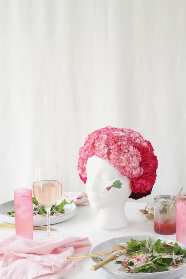 Radish-Inspired Floral Centerpiece by Libbie Summers