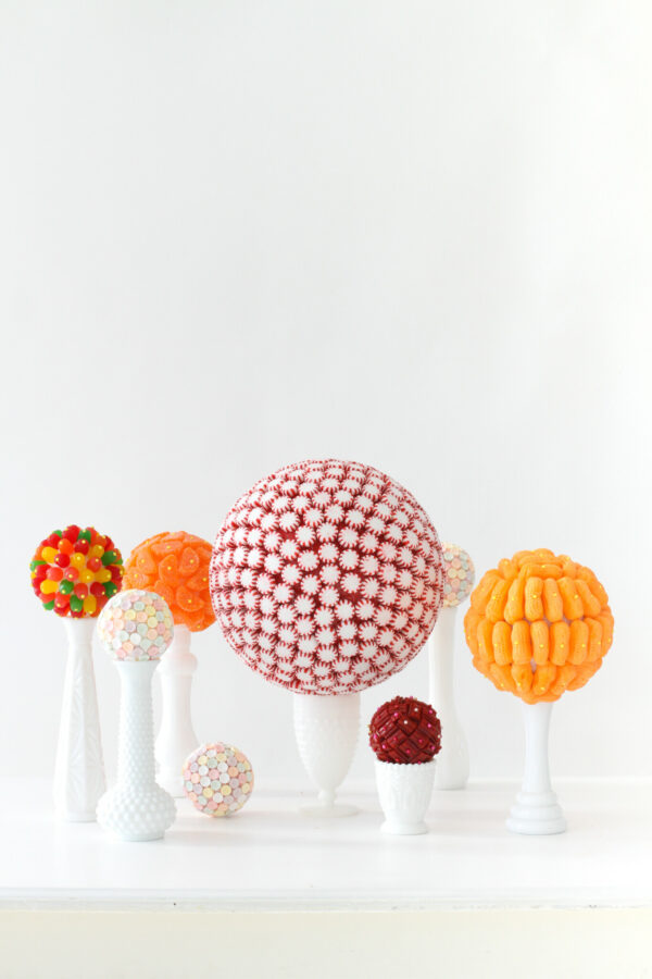 Fun Decorating Ideas, Candy Kissing Balls, Decorating with Candy, Libbie Summers Entertains
