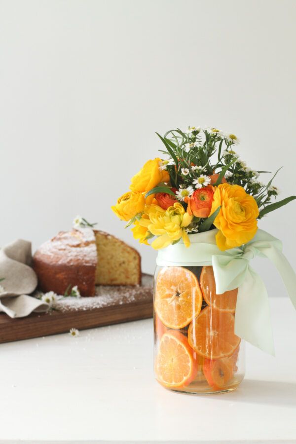 Easy Centerpiece, Citrus Centerpiece, Libbie Summers Entertains, Orange Centerpiece