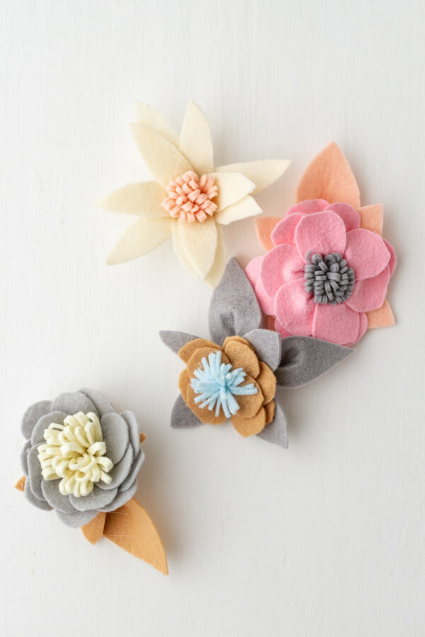 Felt Flower Wreath, Diy, Craft, DIY WREATH, ROUND WREATH, LIBBIE SUMMERS, PASTEL FELT, VALENTINES DAY